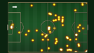 Wayne Rooney's pitch map against Spurs.