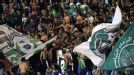 Raja Casablanca fans show support for their team.