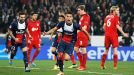 Marquinhos celebrates after his goal meant PSG only trailed Leverkusen for seven minutes.