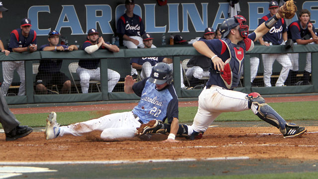 #2 Florida Atlantic vs. #1 North Carolina (Site 1/ Game 7): 2013 NCAA Baseball Regionals