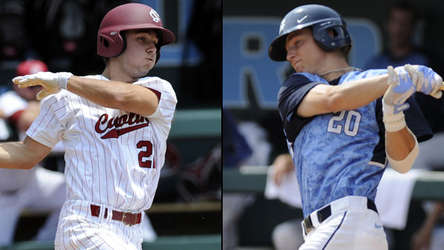 South Carolina vs. #1 North Carolina (Site 1 / Game 3): 2013 NCAA Baseball Super Regionals