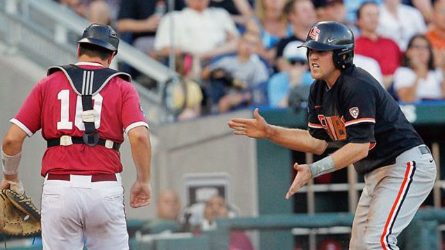 #3 Oregon State vs. Indiana (Game #9): 2013 NCAA College World Series