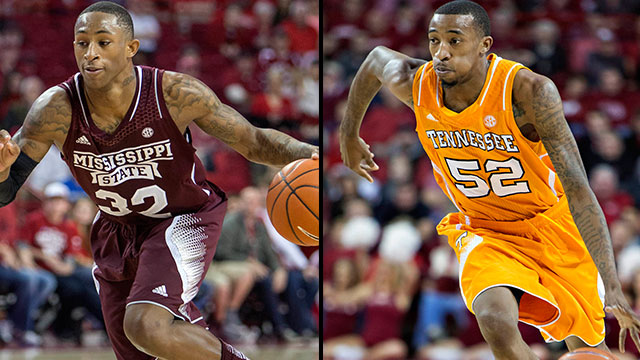 Mississippi State vs. Tennessee (Second Round, Game 2): SEC Men's Basketball Tournament