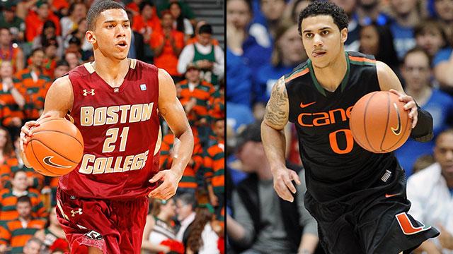 Boston College vs. #9 Miami (FL) (Quarterfinal #1): ACC Men's Basketball Tournament