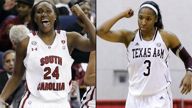 #17 South Carolina vs. #19 Texas A&M (Quarterfinal #2 - Outermarket): SEC Women's Basketball Tournament