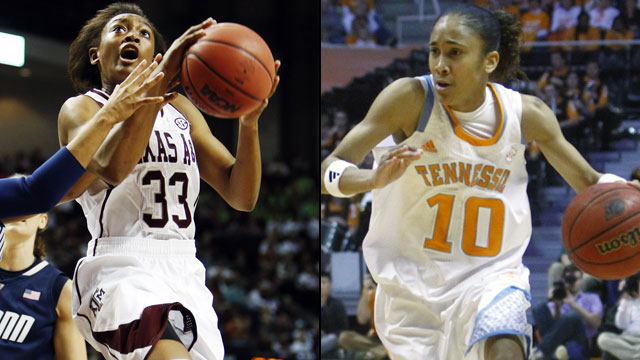 Texas A&M vs. Tennessee (Semifinal #1): SEC Women's Basketball Tournament