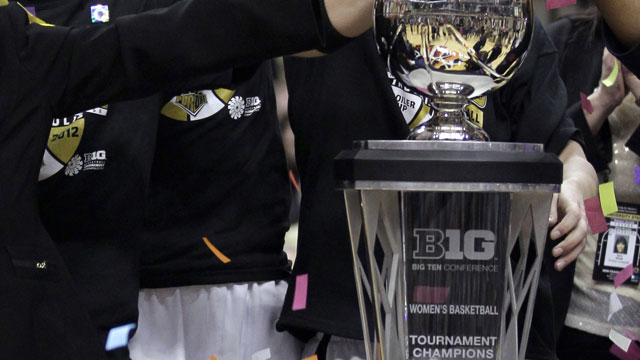 Big Ten Women's Tournament Trophy Presentation