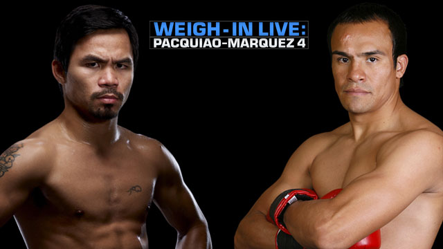 Pacquiao/Marquez IV Live WEIGH-IN