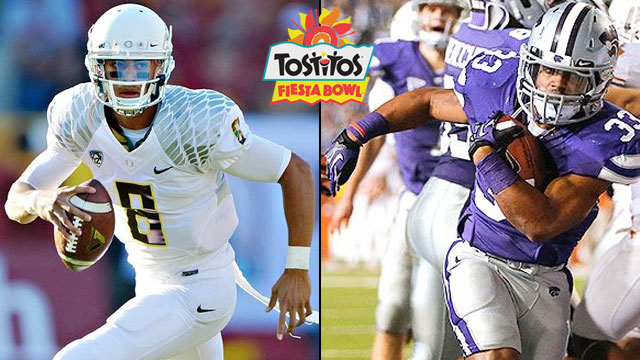 #4 Oregon vs. #5 Kansas State: 2013 Tostitos Fiesta Bowl (Spanish)