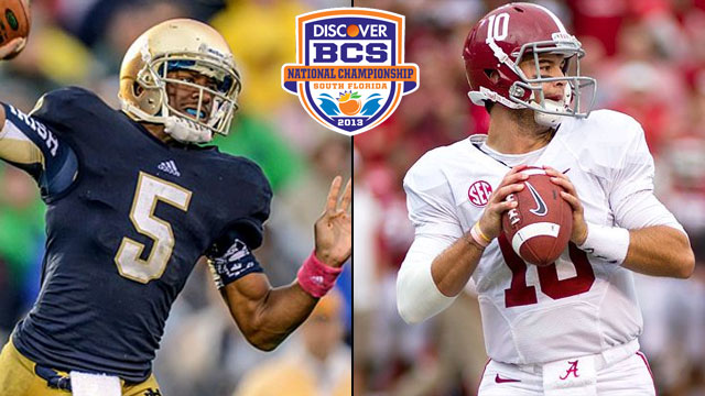 #1 Notre Dame vs. #2 Alabama: 2013 Discover BCS National Championship (Spanish)