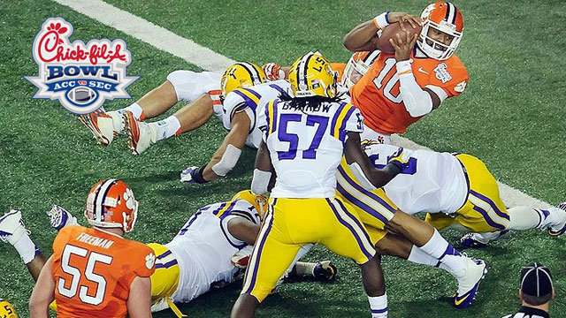 #8 LSU vs. #14 Clemson: 2012 Chick-Fil-A Bowl