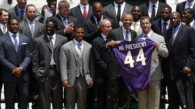 Super Bowl Champion Baltimore Ravens White House Visit