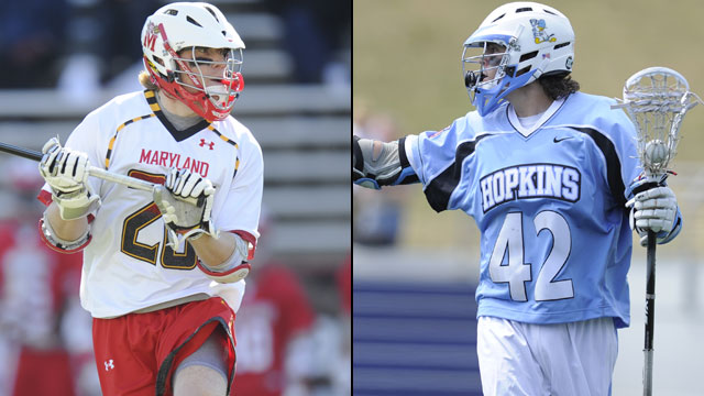 Maryland vs. #2 Johns Hopkins (Quarterfinal #1): NCAA Men's Lacrosse Championship