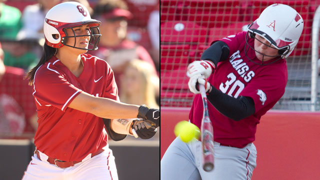 #1 Oklahoma vs. Arkansas (Site 3 / Game 6): 2013 NCAA Softball Regionals