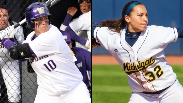 #11 Washington vs. #8 Michigan (Game #10): 2013 NCAA Women's College World Series