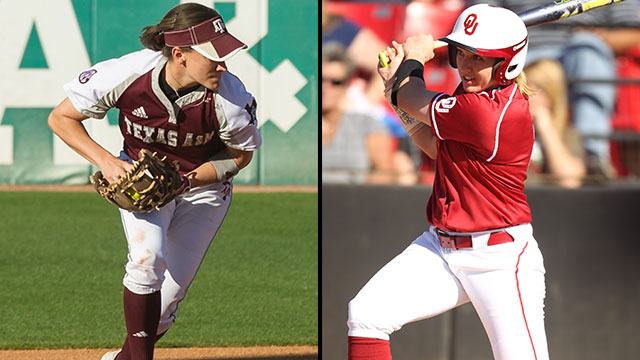#16 Texas A&M vs. #1 Oklahoma (Site 1 / Game 1): 2013 NCAA Softball Super Regionals