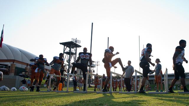 Texas Football Practice