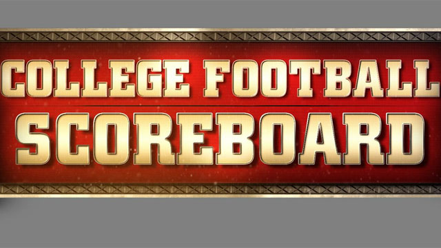 college football scoreboard live foorball on tv
