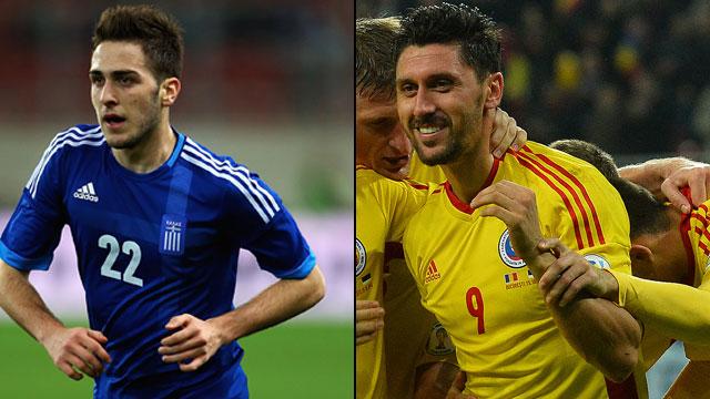 Grecia vs. Rumania (Partido de Ida)