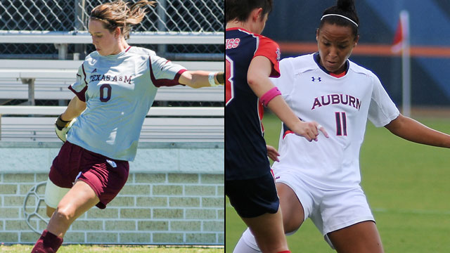 #2 Texas A&M vs. #6 Auburn (Semifinal #1): 2012 SEC Women's Soccer Tournament