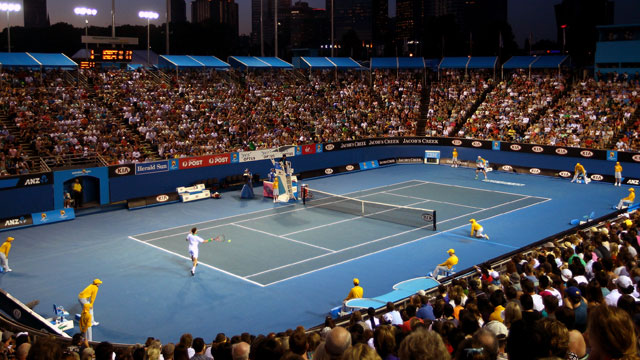 Margaret Court Arena (Day 1 Night) - Albert Ramos (ESP) vs. Marcos Baghdatis (CYP) [28] (First Round)