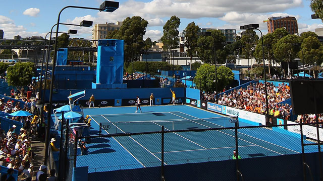 Eric Butorac (USA) and Paul Hanley (AUS) vs. (3) Marcel Granollers (ESP) and Marc Lopez (ESP)