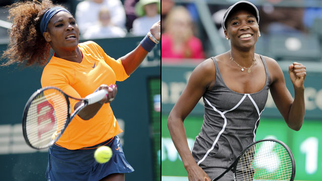 Serena Williams (USA) vs. Venus Williams (USA) (Semifinal #1)