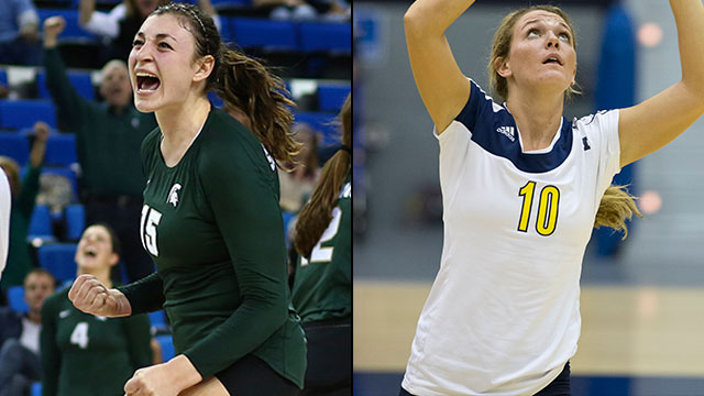 Michigan State vs. Michigan (Regional Semifinal #1): NCAA Women's Volleyball Championship
