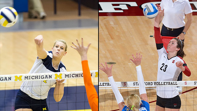 Michigan vs. #2 Stanford (Regional Final): NCAA Women's Volleyball