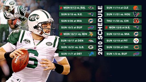 New York Jets 2010 schedule