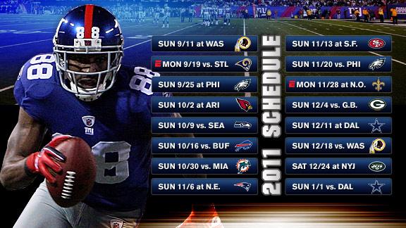 Rapid Reaction: 2011 Giants schedule - New York Giants Blog- ESPN