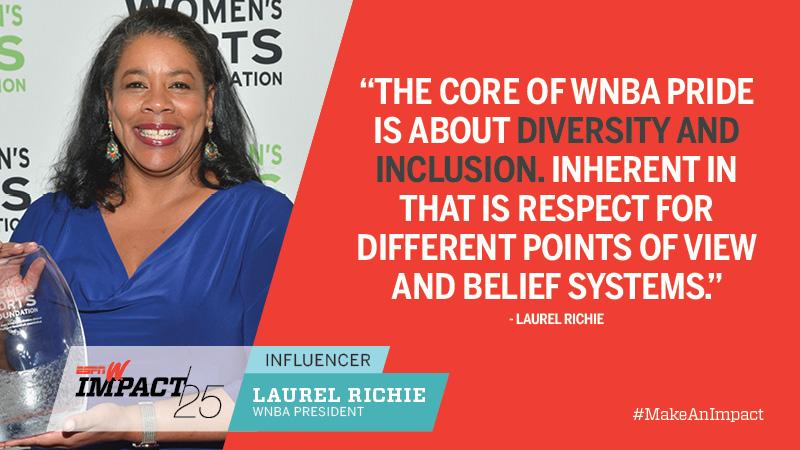 Laurel Richie, 55, WNBA President