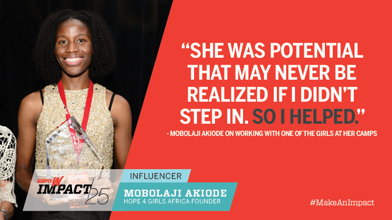 Mobolaji Akiode, 32, Hope 4 Girls Africa Founder