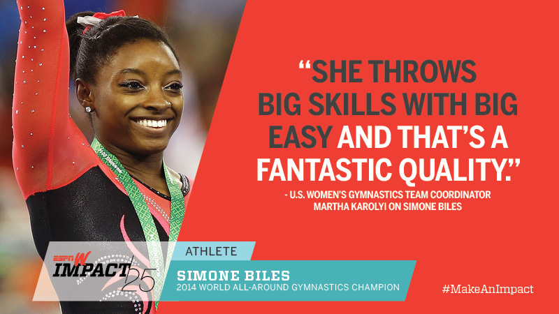 Simone Biles, 17, 2014 World All-Around Gymnastics Champion