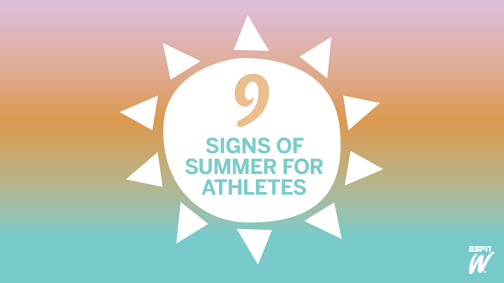 9 Athlete Summer Signs