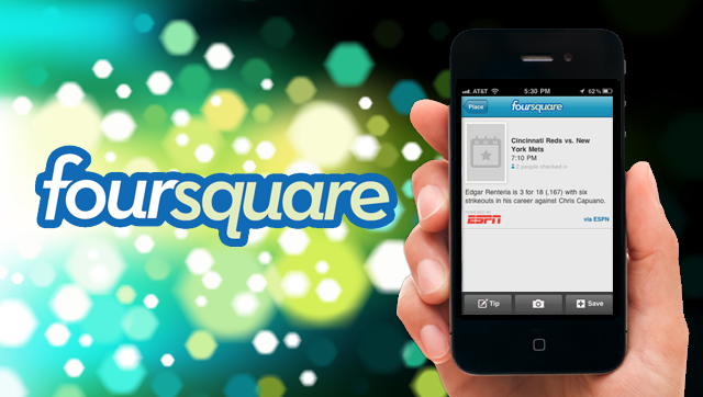 Sports Check Ins on foursquare