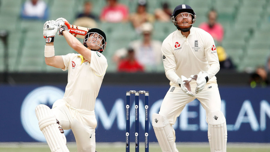 aus wicket falling 4th test