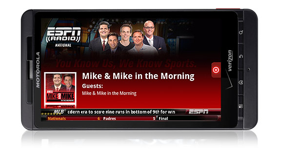 app.  stations -- ESPN 1050 New York, ESPN 1000 Chicago, ESPN 103.3