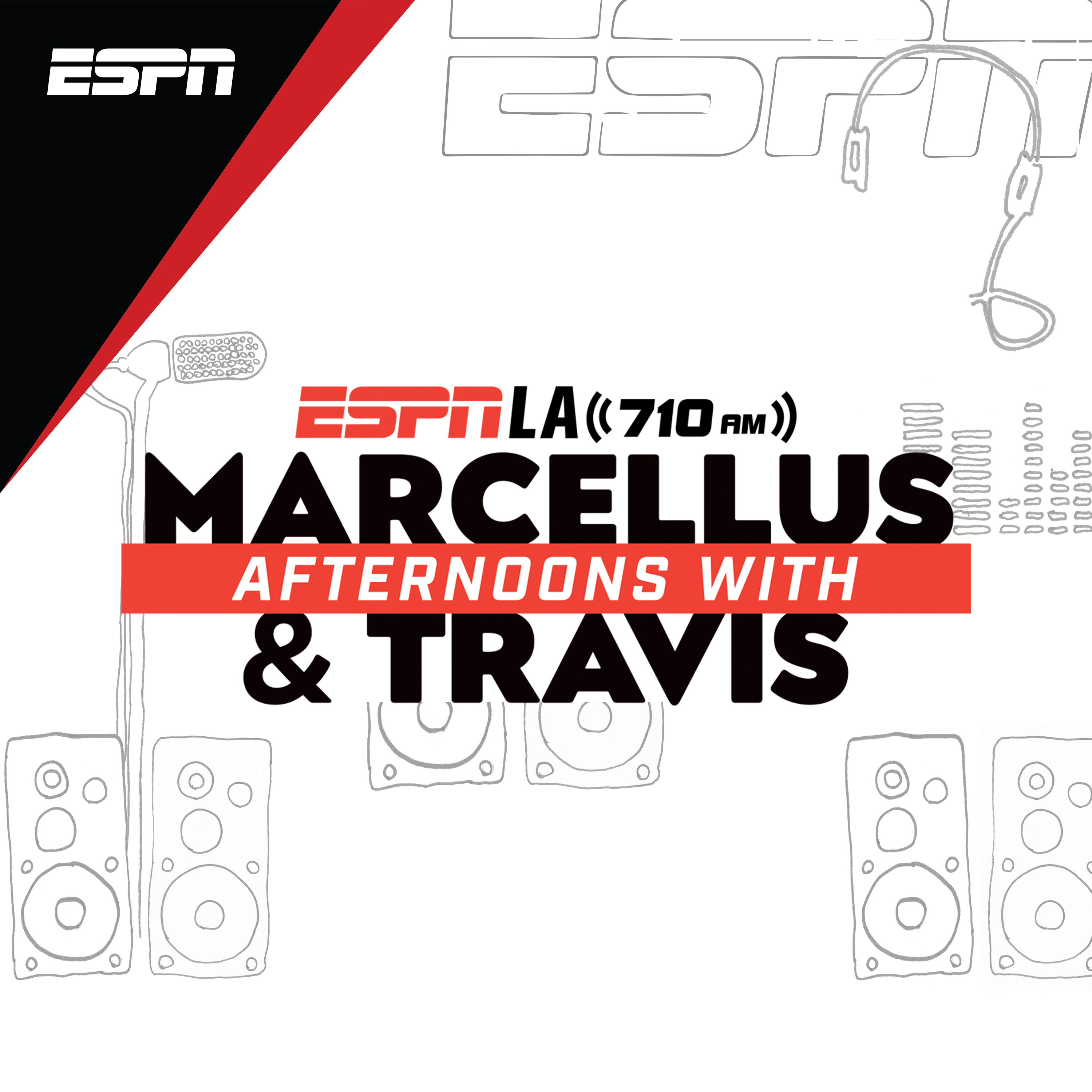 Afternoons on ESPNLA with Marcellus and Travis