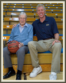 Wooden and Walton might have clashed in the old days at Pauley Pavilion, but now they are the closest of friends.