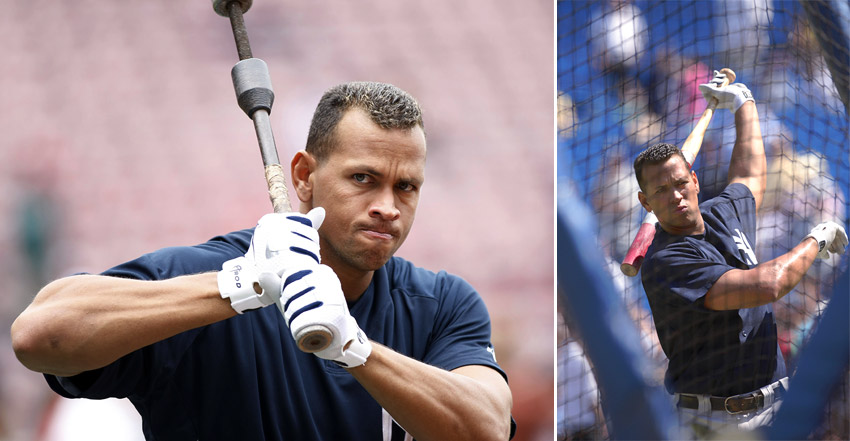 A-Rod in the cage