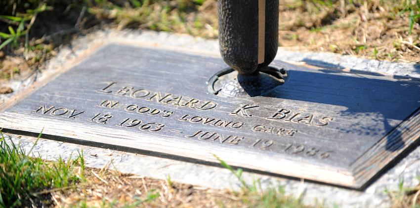 Len Bias' grave