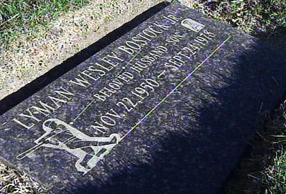 Lyman Bostock's grave