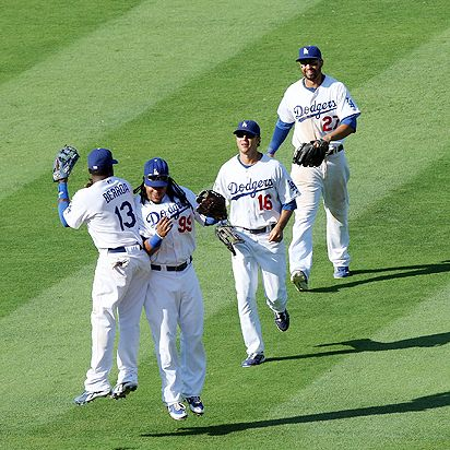 Manny and Dodgers teammates