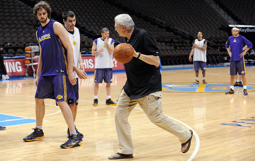 Phil Jackson at practice