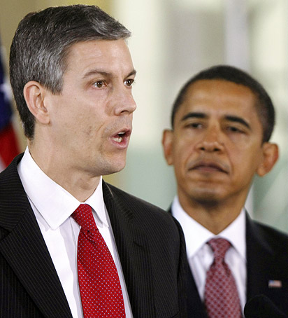 Arne Duncan and Obama