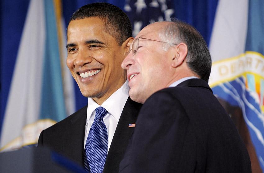 Obama and Ken Salazar