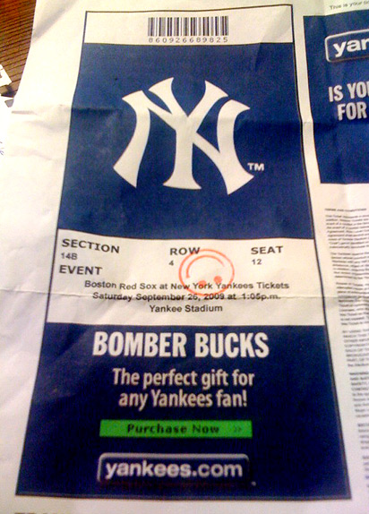 Yankees tickets
