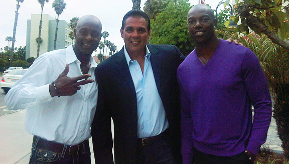 Jerry Rice, Sandy Sandoval, Terrell Owens