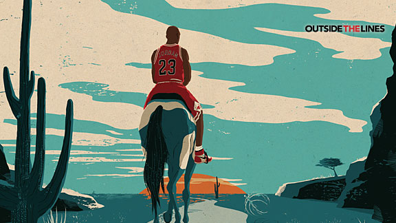Michael Jordan illustration